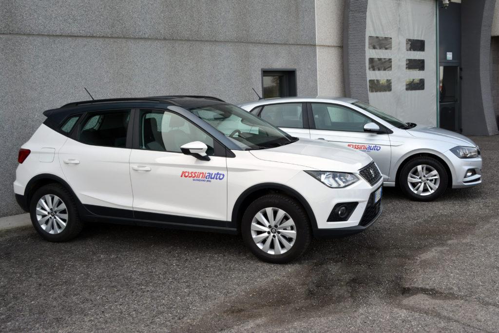 illustrazione vettura sostitutiva gratuita per servizio di officina Volkswagen e Seat service